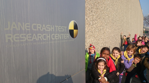 Visita de les escoles a Jane Crash Test