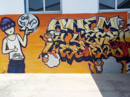 Paret grafitti escorxador